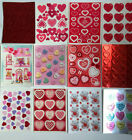 Valentine Stickers Vintage Hallmark Candy Hearts T Bear Cupid New You Choose
