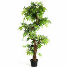 5Ft Fake Keel Red Vine Bonsai Artificial Greenery Plant Home Office Decor