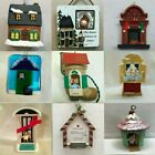 HOUSE ORNAMENTS Each priced separately MANY CHOICES Home Cabin Hut Dwelling