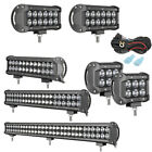 4 7 12 20 28INCH LED Work Light Bar Spot Flood Combo Driving Fog 4x4WD Boat