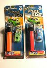 PEZ CANDY AND DISPENSER HOT WHEELS PULL & GO VHTF!!