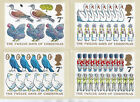 GB 1977 CHRISTMAS 12 days to Issue PHQ CARDS SET No26 SIX values to 9p MNH
