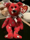 """Ty YUMMY -Red Licensed Hershey Kisses 6"""" Beanie Baby Bear! *Retired EXCLUSIVE*"""