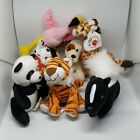 2009 McDonald's Happy Meal Beanie Baby Lot 4 Topper Giraffe Skunkers Hydrant Dog