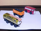 Thomas The Train LOT OF 3, FRED PELHAY, BERTIE THE BUS, AND DIESEL 10 W/CRANE