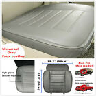 Universal Gray Faux Leather Car Seat Cover Driver Front Cushion w Storage Bag