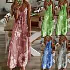 Women Long Boho Dress Floral Summer Beach Cocktail Evening Party Sundress