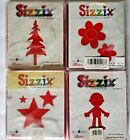 Sizzix Large Red Original Die Cutter Set of 4 Tree Stars Doll Flowers