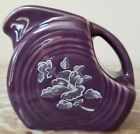 Mini Disc Pitcher Fiesta - Mulberry w/ White Snowflower Floral - USA