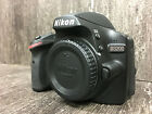 Nikon D3200 242 MP Digital SLR Camera Black Battery Charger Cap Great Condition