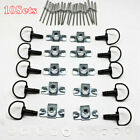 17mm Quick Release D-RING Fairing Fasteners Rivet Style Clips 1/4 Turn 10Sets