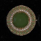 New Turkish Handmade Stone 925 Sterling Silver Emerald Topaz Womens Ring Size 8