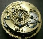 RARE Antique Verge Fusee REPEATER Pocket Watch Movement Running, Key Wind, LOT 7