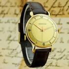 GORGEOUS GENUINE GENTS JAEGER LECOULTRE 18K SOLID GOLD TEARDROP LUGS MANUAL WIND