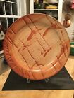 Studio Pottery Oversized 18 Serving Platter Paella Dish Signed Earthy Modern