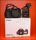 Canon EOS 7D DSLR Camera  - Sold with Battery, Charger, Strap & Box