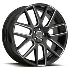 4 Milanni 9022 Virtue 22x9 5x120 +15mm Black Milled Wheels Rims 22 Inch