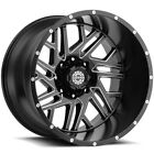 Scorpion OffRoad SC 29 22x14 6x55 76mm Black Milled Wheel Rim 22 Inch