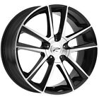 4 Platinum 436U Gemini 18x8 5x108 5x45 +40 Black Machined Wheels Rims 18 Inch