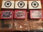 TEXACO COLLECTOR'S CLUB-ERTL-SET OF 3-1913,1932,1930 DELIVERY TRUCKS W/TINS 1:43
