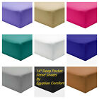 Fitted Sheet 1800 Count Series 14 Deep Pocket Egyptian Comfort Sheets