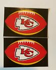 NFL Kansas City Chiefs Lot of 2 Football Oval Indoor Decal Stickers