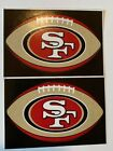 NFL San Francisco 49ers Lot of 2 Football Oval Indoor Decal Stickers