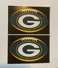 NFL Green Bay Packers Lot of 2 Football Oval Indoor Decal Stickers