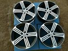 SET VOLKSWAGEN VW GOLF R 2015 2018 OEM 19 Cadiz Wheels Rims 70017 Black CNC GTI