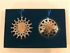 2000 US Mint Holiday Double Ornament Set Native American Dollar