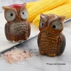 Owl Ceramic Salt  Pepper Shakers Set Colorful Chicken Collectible Shakers