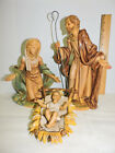 VTG 4pc Fontanini  Nativity Set Creche Figures Italy Large 12 Scale