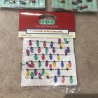 Lemax Lite Garland & Sterling Light For Small Trees / Christmas Village (6ft)