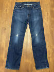 Mens Lucky Brand Premium Italian Denim 363 Vintage Straight 30x30 Jeans Ripped