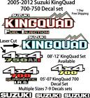 Suzuki KingQuad 700 750 450 Decal emblem graphic OEM sticker kit upgrade axi ax