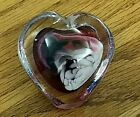 Pretty Little Sandy Fritch Heart Shaped Paperweight 1994