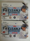 2019 TOPPS CLEARLY AUTHENTIC BASEBALL FACTORY SEALED HOBBY 2 BOX LOT