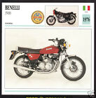 1976 Benelli 350RS (346cc) (with 1980 354 Sport) Motorcycle Photo Spec Info Card