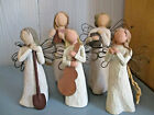 Lot of 5 WILLOW TREE Angels Ornaments 1999 2005 Learning Garden Song Freedom