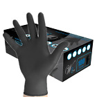 We Care Black Nitrile Industrial Latex Powder Free Disposable Gloves 100box