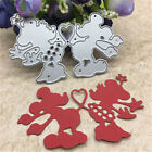 Cute Heart Mouse Toy Doll Metal Cutting Dies Scrapbook Cards Photo Albums FB UEG
