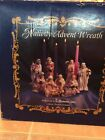 ROMAN NATIVITY ADVENT WREATH BISQUE FIGURINES Ca 1997