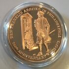 Ben Franklin Arrives In Philadelphia Pennsylvania Liberty Bell Coin Medal