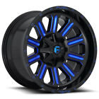 4 Fuel D646 Hardline 20x10 5x55 5x150 18mm Black Blue Wheels Rims 20 Inch
