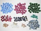664pc Vintage CZECH Glass Opal Star Sapphire Cabs Setting Lot Jewelry Supply