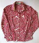 BODEN Womens Bright Pink Floral Button Down Long Sleeve Blouse Shirt Top Sz 6
