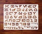Aurebesh Stencil Template Star Wars Mylar 1 inch Letters Numbers FREE SHIPPING