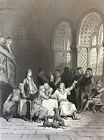 Gustave Golden Engraving the Idylls of King Alfred Tennyson 1869 Arthur XIX Th