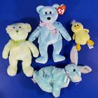 Ty Beanie Babies Easter Plush Lot Ears II Flora Spring Bears Bunny Rabbit Duck