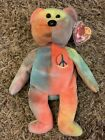 TY beanie Baby PEACE BEAR MWMT 1996 Collectible Retired